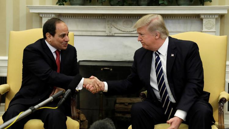 ترامب والسيسي يتفقان على التعاون ضد الإرهاب وإحلال السلام