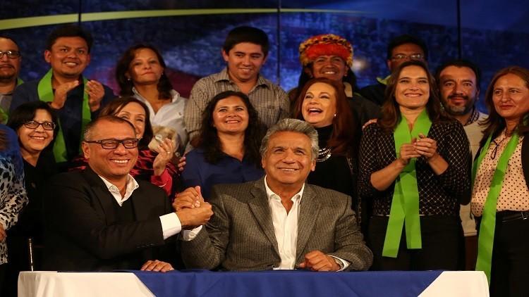 فوز المرشح الاشتراكي لينين في انتخابات رئاسة الإكوادور