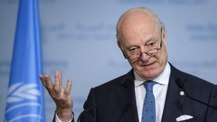 مكتب دي ميستورا: نتابع بانتباه الوضع في سوريا ونجري مشاورات