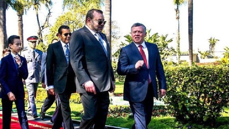 العاهل الأردني الملك عبد الله الثاني والعاهل المغربي الملك محمد السادس