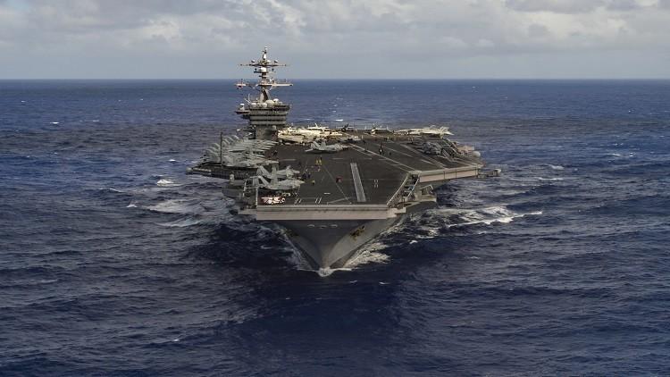 سفن أمريكية ضاربة تغير اتجاهها فجأة وتبحر نحو سواحل كوريا الجنوبية