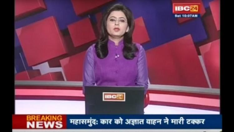 مذيعة هندية تقرأ نبأ وفاة زوجها على الهواء مباشرة