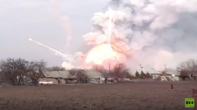 حريق هائل يكبد كييف مليار دولار