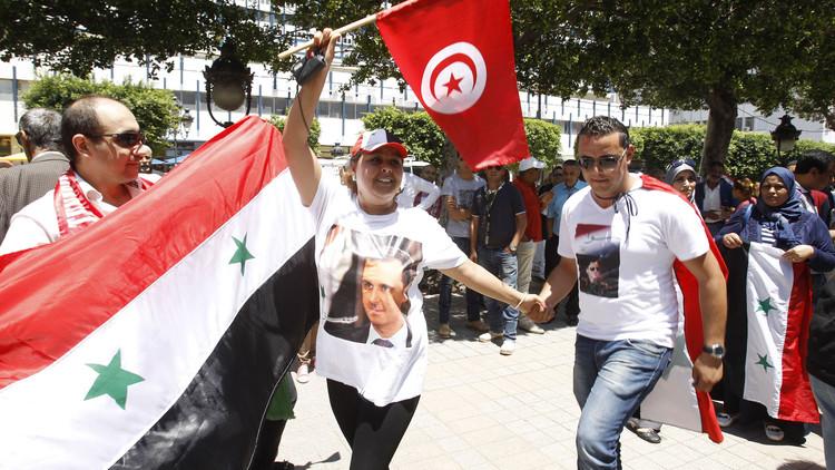 مظاهرة مؤيدة لسوريا في تونس (أرشيف)
