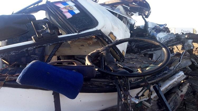 ضحايا جراء اصطدام قطار بحافلة أطفال قرب أومسك الروسية