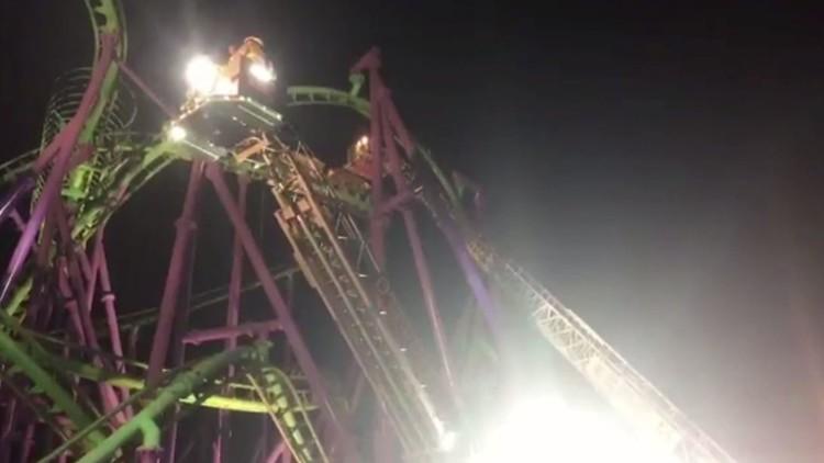 إنقاذ العشرات علقوا على ارتفاع 100 قدم بعد تعطل أحد الألعاب بحديقة في ماريلاند