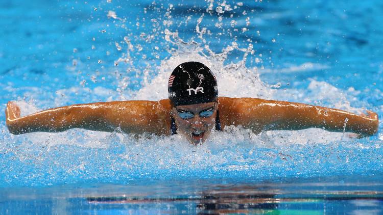 بطلة أولمبية تنافس رغم حملها