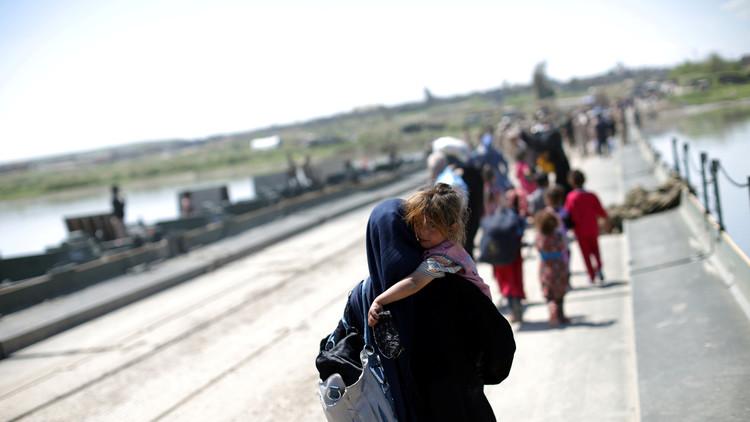 نزوح  نصف مليون شخص بسبب معارك الموصل