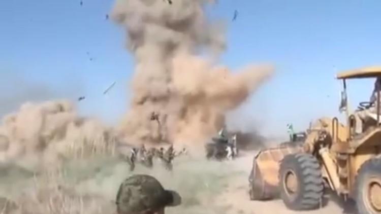 انفجار عبوة ناسفة أثناء البث المباشر في العراق