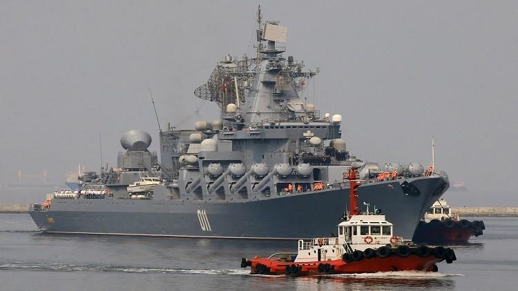 الرئيس الفلبيني على متن طراد روسي