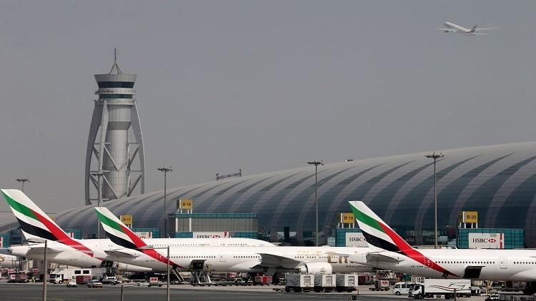 مطار دبي الثالث عالميا بعدد المسافرين