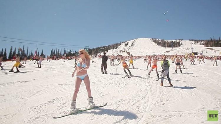 مهرجان التزلج بملابس صيفية.. من سوتشي إلى سيبيريا