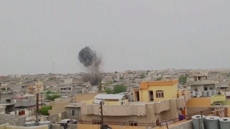 معارك في حي التنك غرب الموصل