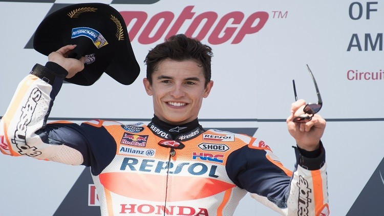 ماركيز يفوز بجائزة أمريكا الكبرى للدراجات النارية