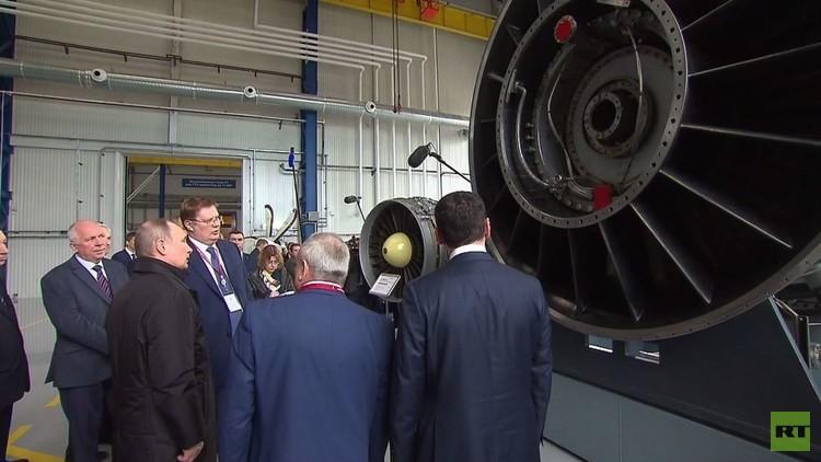 بوتين يدشن مصنعا لإنتاج محركات السفن (فيديو)