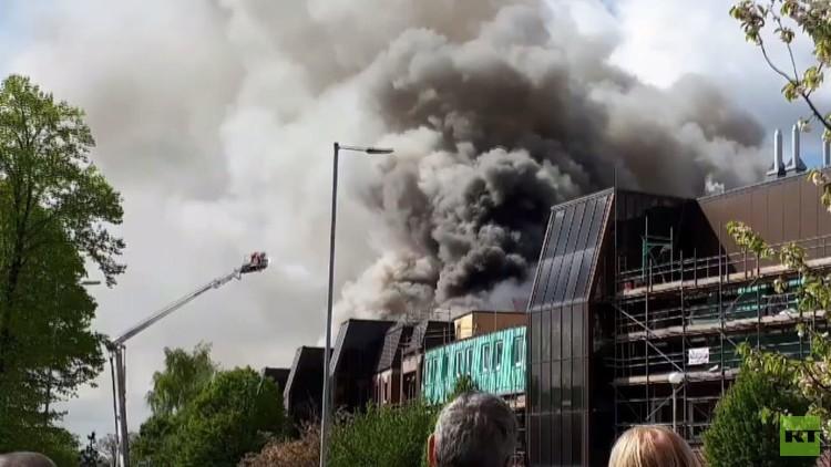 حريق ضخم في مستشفى مانتشيستر لعلاج أمراض السرطان