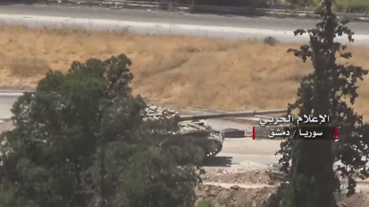 شاهد بالفيديو المعارك الشرسة في حي القابون شرق دمشق