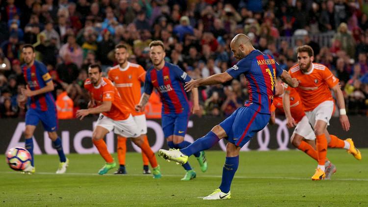ماسكيرانو يسجل أول هدف في مسيرته مع برشلونة