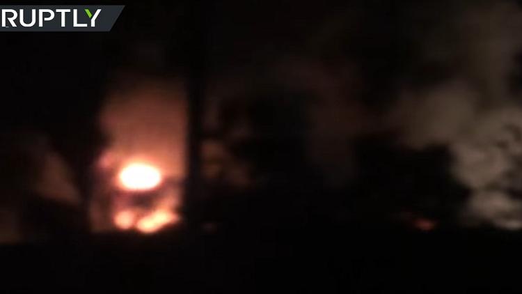 انفجارات ضخمة بمحيط مطار دمشق الدولي
