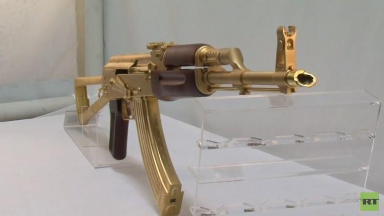 رشاش كلاشنكوف الذهبي (فيديو)