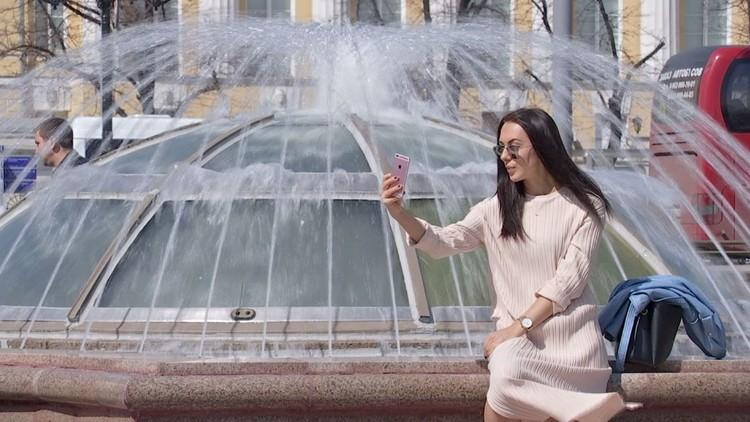 افتتاح موسم النوافير في موسكو!