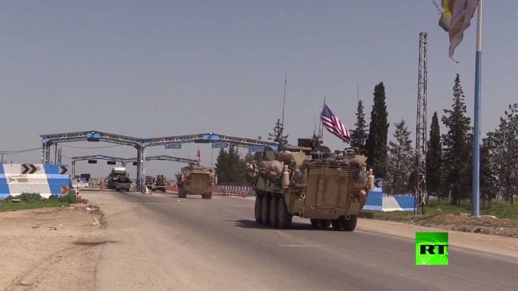 شاهد بالفيديو.. دخول قافلة عسكرية أمريكية إلى سوريا