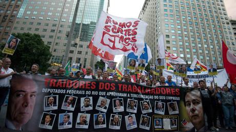 احتجاجات في البرازيل ضد الحكومة