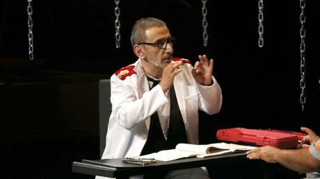 زياد الرحباني خلال عرض مسرحي