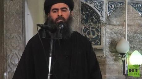 """أبو بكر البغدادي زعيم تنظيم """"داعش"""" الإرهابي"""
