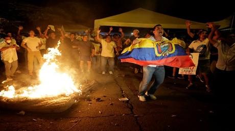احتجاجات وأعمال عنف عقب صدور نتائئج الانتخابات الرئاسية في الإكوادور 2/4/2017