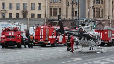 عمليات الإنقاذ بعد تفجير مترو سان بطرسبروغ