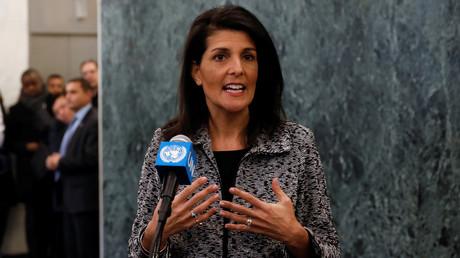 نيكي هايلي المندوبة الأمريكية لدى الأمم المتحدة