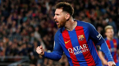 ميسي مهاجم نادي برشلونة