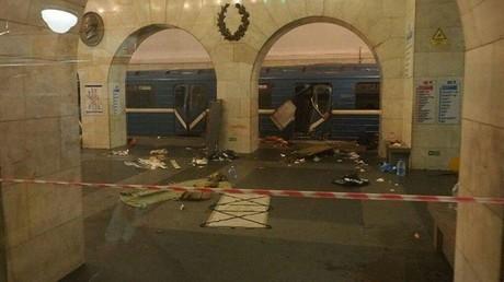 انفجار في مترو بطرسبورغ