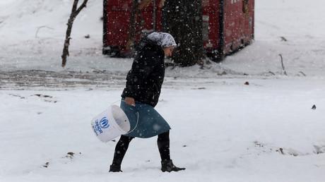 لاجئة سورية في شمال اليونان