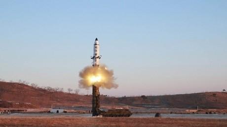 صورة أرشيفية لاختبار صاروخي في كوريا الشمالية