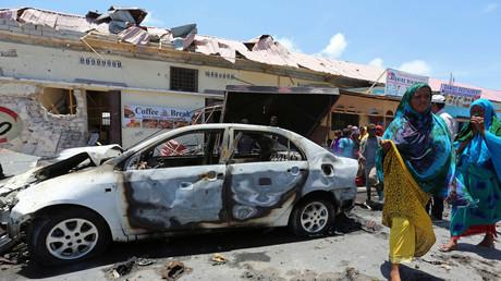 موقع التفجير في مقديشو