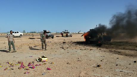 أفراد من الجيش الوطني الليبي