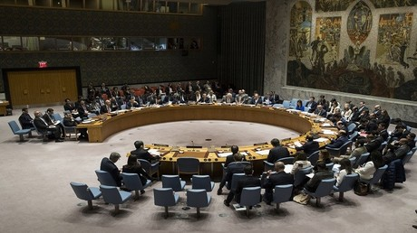 اجتماع أعضاء مجلس الأمن في 5 أبريل 2017 في نيويورك