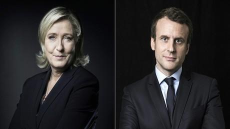 المرشح المستقل ايمانويل ماكرون وزعيمة الجبهة الوطنية مارين لوبان