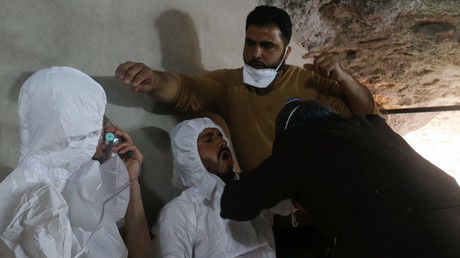 مصابون بالهجوم الكيميائي المزعوم في خان شيخون