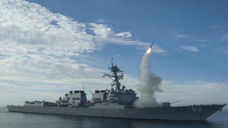 إطلاق صاروخ من سفينة أمريكية
