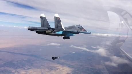 أرشيف - مقاتلات روسية تحلق في الأجواء السورية