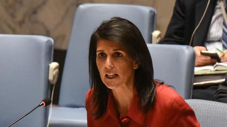المندوبة الأمريكية الدائمة لدى الأمم المتحدة، نيكي هايلي.
