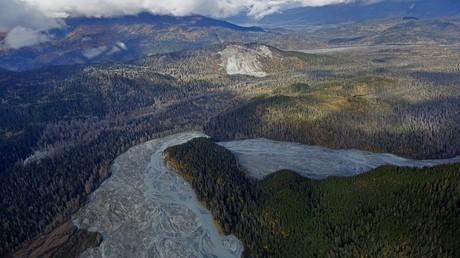 أرشيف - منظر جوي لجنوب غرب ألاسكا، الولايات المتحدة