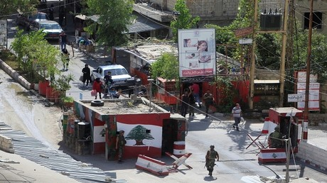 أرشيف - مدخل مخيم عين الحلوة للاجئين الفلسطينيين قرب صيدا بجنوب لبنان