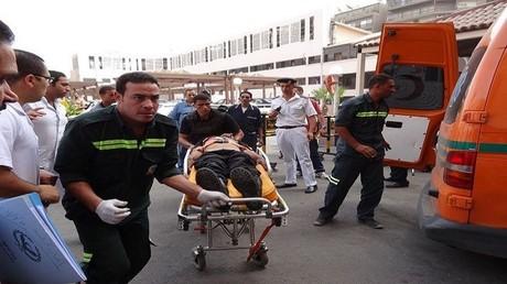 شاهد اللحظات الأولى لتفجير الكنيسة في طنطا المصرية