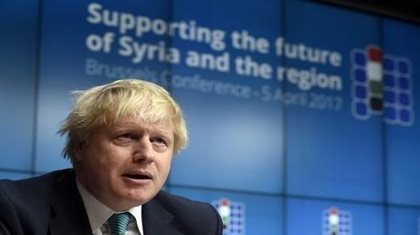 وزير الخارجية البريطاني بوريس جونسون، بروكسل، 5 أبريل 2017