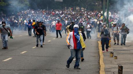احتجاجات في العاصمة الفنزويلية كاراكاس
