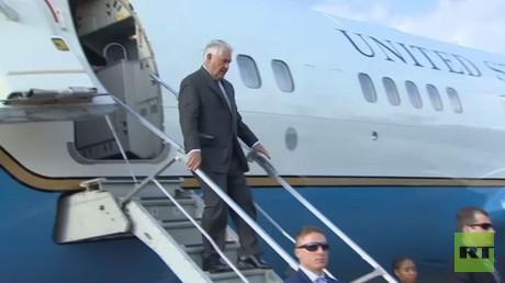 وصول وزير الخارجية الأمريكي ريكس تيلرسون إلى موسكو
